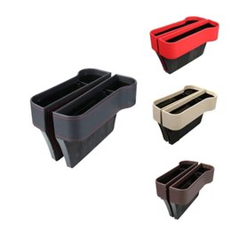 cars storage box Coupons - Leather Car Seat Crevice Storage Box Multi-functional Side Gap Filter Organizer