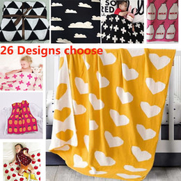 Wholesale Thin Cotton Blanket - 90*100cm Cotton Knitted Blanket Baby Newborn Cartoon Air Condition Blanket Thin Quilts Children Bed Sofa Sheet Blankets WX9-230