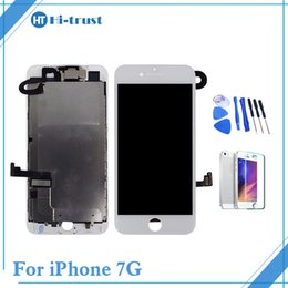 Wholesale Iphone Full Set - Grade AAA++For iPhone 7 7G LCD Display Full Set Assembly Touch Screen Digitizer Replacement & Front Camera with Free Shipping