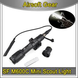 Airsoft SF M600C LED Mini İzci Feneri 130 lümen Avcılık Led M600 C AEG GBBM16 açık spor Için Paintball Işık nereden lampe torche el feneri tedarikçiler