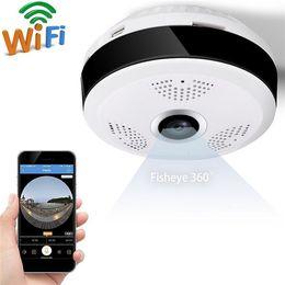 2019 проволока для мини-кулачков Рыбий глаз VR Панорамная камера HD 1080P 2.0MP Беспроводная Wi-Fi IP-камера Домашняя система видеонаблюдения Камера Wi-Fi 360 градусов Веб-камера V380