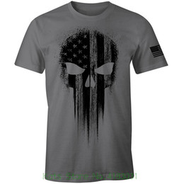 1eb9ca05c10 t shirt american flag Promo Codes - Usa Military American Flag Black Skull  Patriotic Men s T