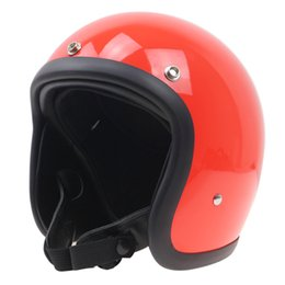 Wholesale Tt Helmets - TT CO style motorcycle helmet No more mushroom head light weight and comfortable Fiberglass shell hand made open face helmet