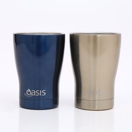 Wholesale Travel Juice Cup - 12oz Travel Tumblers Beer Mugs Stainless Steel Juice Cup Office Mugs Large Capacity Watter Bottle With Lids In Withe Box TY7-408