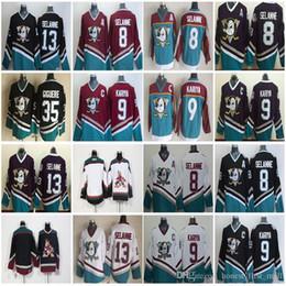 93a6edf15 Vintage Anaheim Mighty Ducks 8 Teemu Selanne Hockey Jerseys 9 Paul Kariya  35 Jean-Sebastien Giguere 13 Selanne 1998 CCM Jersey Purple