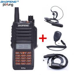 Wholesale waterproof walkie - Baofeng UV-9R Plus 8W 2800MAH Waterproof Two Way Radio Dual Band Handheld Walkie Talkie Waterproof headset speaker MIC Programming Cable