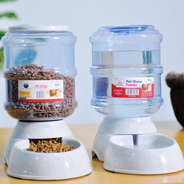 bowl plates Promo Codes - Pet Drinkers Cat Dog 3 .5l Automatic Feeder Drinking Animal Pet Bowl Water Bowl For Pets Dog Automatic Drinkers