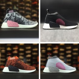 Wholesale womens black cotton socks - 2018 Real picture hot-sell MAN womens sports SHOES pink NMD CS2 City Sock PK high quality Running Shoes nmd R2 shoes 201