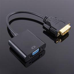 2019 cable dvi para pc DVI Macho a VGA Hembra Adaptador Convertidor de Video Cable 1080P DVI-D a VGA Cable 24 + 1 Convertidor de 25 Pines para TV PS3 PS4 Pantalla de PC