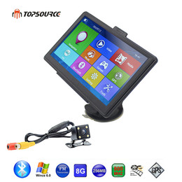 Wholesale Gps Wince - TOPSOURCE 7 Inch Car GPS Navigation WinCE 6.0 8GB Wrieless Rearview Camera Map Free Upgrade Spain  Europe USA+Russia UK