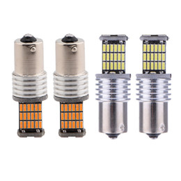 Wholesale Toyota Canbus - YSY 10pcs lot 1156 BA15S P21W canbus led 4014 45 SMD 45SMD Lights DRL car led turn signals Light 1157 BAY15D 3156 3157 7440 7443