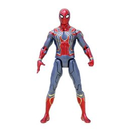 Wholesale Infinity Figures - Avengers Spiderman PVC Action Figures Infinity War Superhero Figures Spider-man Collectible Movable Model Dolls Toy Novelty Items OOA4968