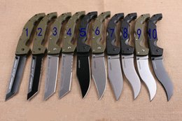 Cuchillos grandes de acero al aire libre online-10 Tipos Más nuevos Cuchillos de acero frío Cuchillo plegable grande Utilidad XL-SIZE VOYAGER Cuchillos de supervivencia de uso general Herramienta de acampar al aire libre táctica