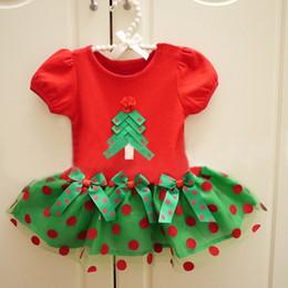 2020 mädchen rotes pullover kleid Weihnachtsbaum Baby Mädchen Kleid Grün Rot Kinder X'mas Kostüme Mädchen TUTU Kleider Dot Infant Jumper Kleinkind Outfits 1-4 Jahre günstig mädchen rotes pullover kleid