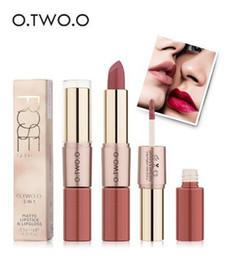 lápiz labial halo mágico Rebajas O.TWO.O 12 colores de maquillaje de terciopelo barra de labios mate labios lápiz labial maquillaje LÍQUIDO LIP GLOSS larga duración a prueba de agua