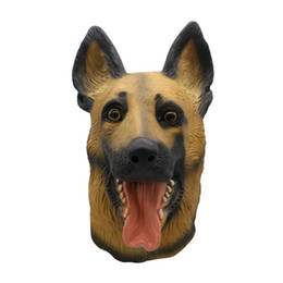 Cosplay pasquale online-Maschera per cani in lattice traspirante Halloween durevole puntelli Cosplay puntelli maschera per feste in maschera pasquale costume di carnevale di halloween