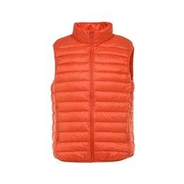 Wholesale Men Down Vest Orange - 2017 New Men's Ultra Light Duck Down Vest Sleeveless Jacket Men Gilet Mens Warm Vest chalecos hombre sin mangas