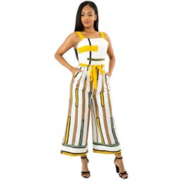 49661d956224 New Vertical Striped Sexy Jumpsuit Women Summer Spaghei Strap Backless  Romper Bow Tie Double Side Pocket Wide Leg Overall 5058 sexy bow legged  women ...