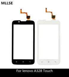 4,5-zoll-bildschirm-handy online-4,5 zoll handy touch panel sensor für lenovo a328 a 328 a328t touchscreen digitizer ersatz äußere glasscheibe