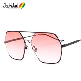 6b424c92f4b1e wholesale Fashion Hexagon Metal Aviation Style Gradient Sunglasses Men  Women Vintage Brand Design Sun Glasses Oculos De Sol 18064