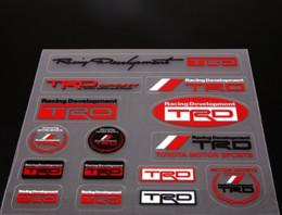 Calcomanía de alta calidad del logotipo del desarrollo de las carreras del motor de la etiqueta engomada del coche para Toyota TRD desde fabricantes