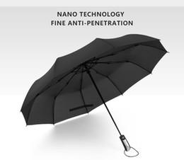 Resistente al vento Pieghevole Automatico Ombrello Pioggia Donne Auto Lusso Grandi Antivento Ombrelli Pioggia Per Uomo Rivestimento Nero 10K Parasol da ombrello fornitori