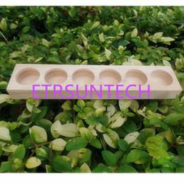 lanterna clara Desconto MADEIRA NATURAL Aromaterapia Display Organizador Titular Rack De Armazenamento De Óleo Essencial Suporte para 6 pcs 15 ml Garrafas QW8234