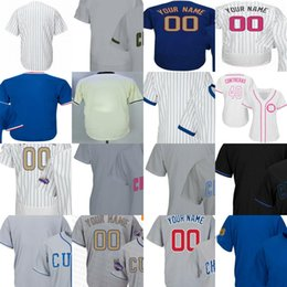 Wholesale Kids Days - Mens Womens Kids Toddlers 2016 WS Champions Patch Chicago Gold Program Mother Fathers Day Customized Personalized Baseball Jersey Postseason