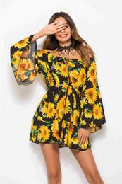 vestido de renda floral sem alças Desconto 2018 verão Europa e nos Estados Unidos quente nova impressão cintura elástica vestido de renda sem alças saia gola