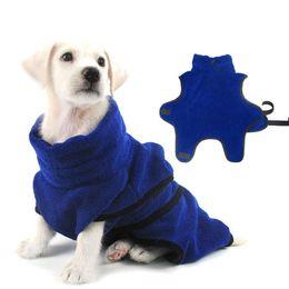 2019 toalhas de microfibra pet Cão Roupão De Banho De Microfibra Super Absorvente Secagem Rápida Pet Dog Bathrobe Toalha De Banho Quente Roupas XS-XL toalhas de microfibra pet barato