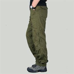 Nuevos pantalones de combate online-Tamaño 30-40 New Spring Tactical Cargo exterior Pantalones Hombre Combat Army Pants Cotton Trouser Workwear pantalones de chándal