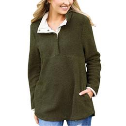 T-shirt à manches longues en laine en Ligne-T-shirt à manches longues à manches longues pour femmes T-shirt à manches longues en laine Sweat-shirt à manches longues en molleton