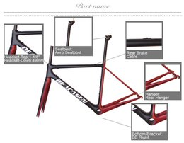 Wholesale Carbon Road Bicycle 48cm - Newest DEACASEN T800 UD frame Full Carbon Road Bike Frame,fork,headset,seatpost BB RIGHT, bicycle frameset warranty 2 years