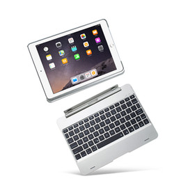 Wholesale bluetooth keyboard folio case - Cover For iPad Air 1 Case And Keyboard Backlit Slot Cover Flip Wireless Bluetooth For iPad 9.7 2017