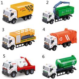 2019 carros diecast para crianças Kid portador de brinquedos puxar para trás liga de carro saneamento da série do carro petroleiro modelo de veículo de resgate toys truck diecast carros diecast para crianças barato