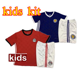 Wholesale Hot Egypt - hot Egypt Kids soccer jersey 2018 world cup Home Red Away blue18 19 KAHRABA A. HEGAZI RAMADAN national team uniforms jerseys footbal shirts