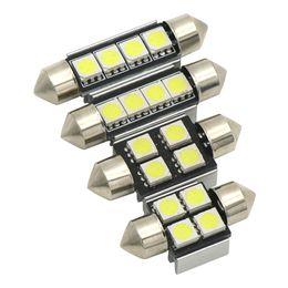 Wholesale 39mm festoon led - Festoon 31mm 36mm 39mm 42mm LED Bulb C5W C10W Super Bright 5050 SMD Canbus Error Free Auto Interior Doom Lamp Car Styling Light
