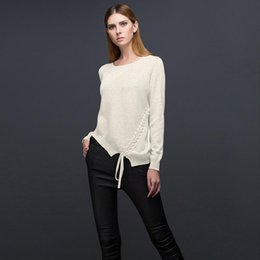 6322c3d52e76 knitting lace stitches free Coupons - Autumn Pullover Sweaters 2018 Fashion  Women Irregular O-Neck