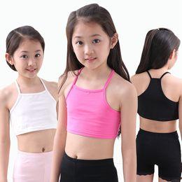 Wholesale wholesale kids bra - Girls Bra camisole girl cotton vest child world of tank girls underwear candy color girls tank tops kids clothing models