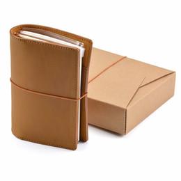 Funda de cuero genuino Pasaporte Notebook Diario de diario hecho a mano Cuaderno de viaje Planificador de bocetos Estilo vintage clásico desde fabricantes