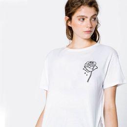 ac95b3dfbf6 2018 Korean style Summer Blouses rose Print Women Tops Casual Short sleeve  Lady Shirts Plus Size Women Clothing Simple ShirtsNV77 RF
