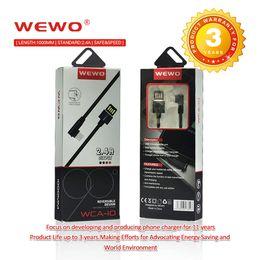 taxas de casa Desconto Wewo 3.3ft de metal habitação trançado cabo micro usb tipo c carregador de velocidade rápida de carregamento de cabos para samsung goophone android telefone inteligente