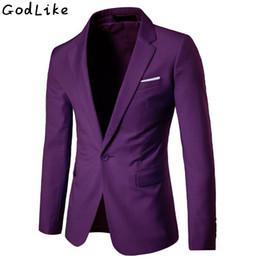 2019 tuxedo peggiorato dello sposo 2017 New Fashion Uomo Casual Blazer Single Button Dress Blazer Giacca Uomo Slim Fit Mens Suit Giacca Solid Coat Uomini 5XL 6XL