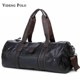 Wholesale Retro Luggage - VIDENG POLO Vintage Retro Leather Men Travel Bags hand luggage Overnight Bag Large Duffle Travel Bags Women Weekend bolsa viagem