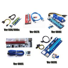PCI-E Ver 006 006C 007S 008C 009S Ver006C Ver008C Carte de montage Express Ver009S 1x-16x Câble USB 3.0 pour BTC Bitcoin Miner DHL ? partir de fabricateur