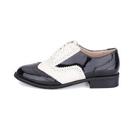Полные кожаные ботинки онлайн-2017 ed Design Men's Casual Shoes Full Grain Leather Oxfords Fulll Brogue Pointed Toe Fashion Mixed Color Oxford Shoe
