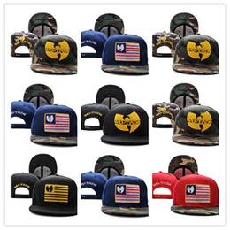 swag hats Promo Codes - Free Shipping New Arrivals Wu Tang camo USA flag Mens bones swag Gorra Baseball Caps Adjustable Gorras Snapback Hats For Adult