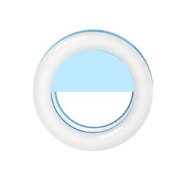 Anillo de foto flash online-USB recargable LED Flash Ring Light 36 LEDS 3 Nivel de brillo Selfie Camera Photo Selfie Light Ring Clip en el teléfono