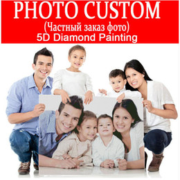 Wholesale Crystal Room Decor - Make Custom Picture DIY Diamond Painting Embroidery 5D Cross Stitch Crystal Square Unfinish Home Bedroom Wall Art Decor Craft Gift