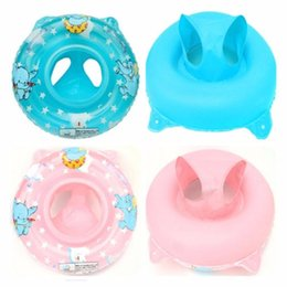 Wholesale swim ring baby double - Double Handle Safety Baby Seat Float Swim Ring Inflatable Infant Kids Swimming Pool Rings Water Toys Swim Circle for Kids